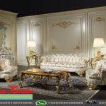 Set Sofa Ruang Tamu Mewah Gold Italian