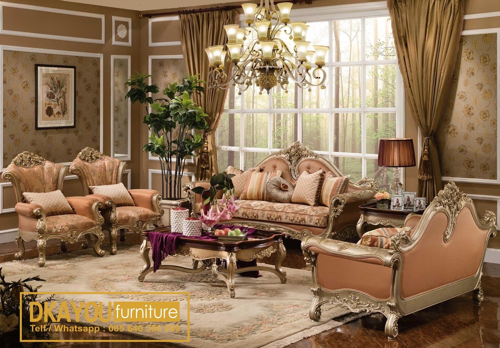 Sofa Mewah Klasik Set Ruang Tamu Mewah Terbaru Klasik Mewah Sksrt 437 Df Dkayou Furniture Indonesia Ruang tamu mewah klasik
