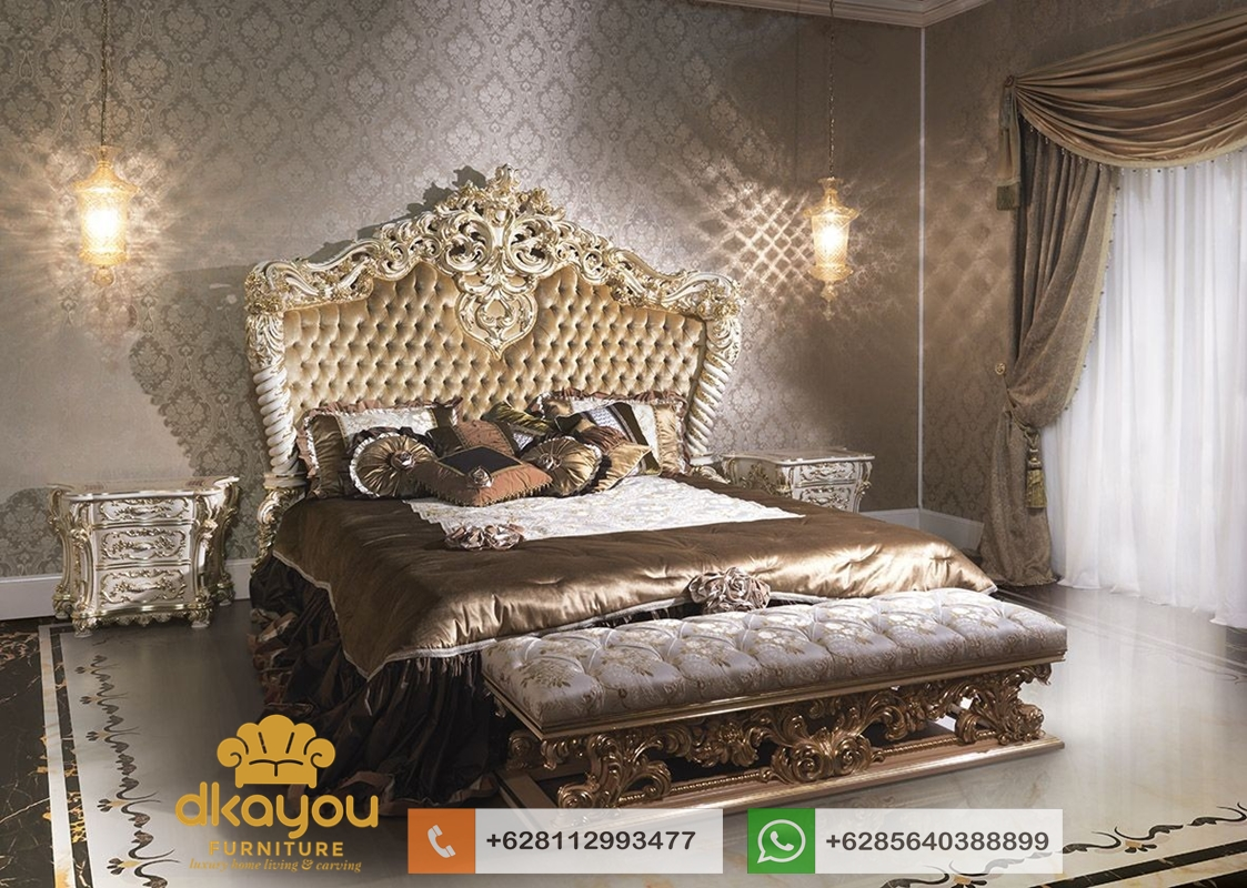 model tempat tidur mewah klasik