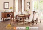set kursi meja makan minimalis jati