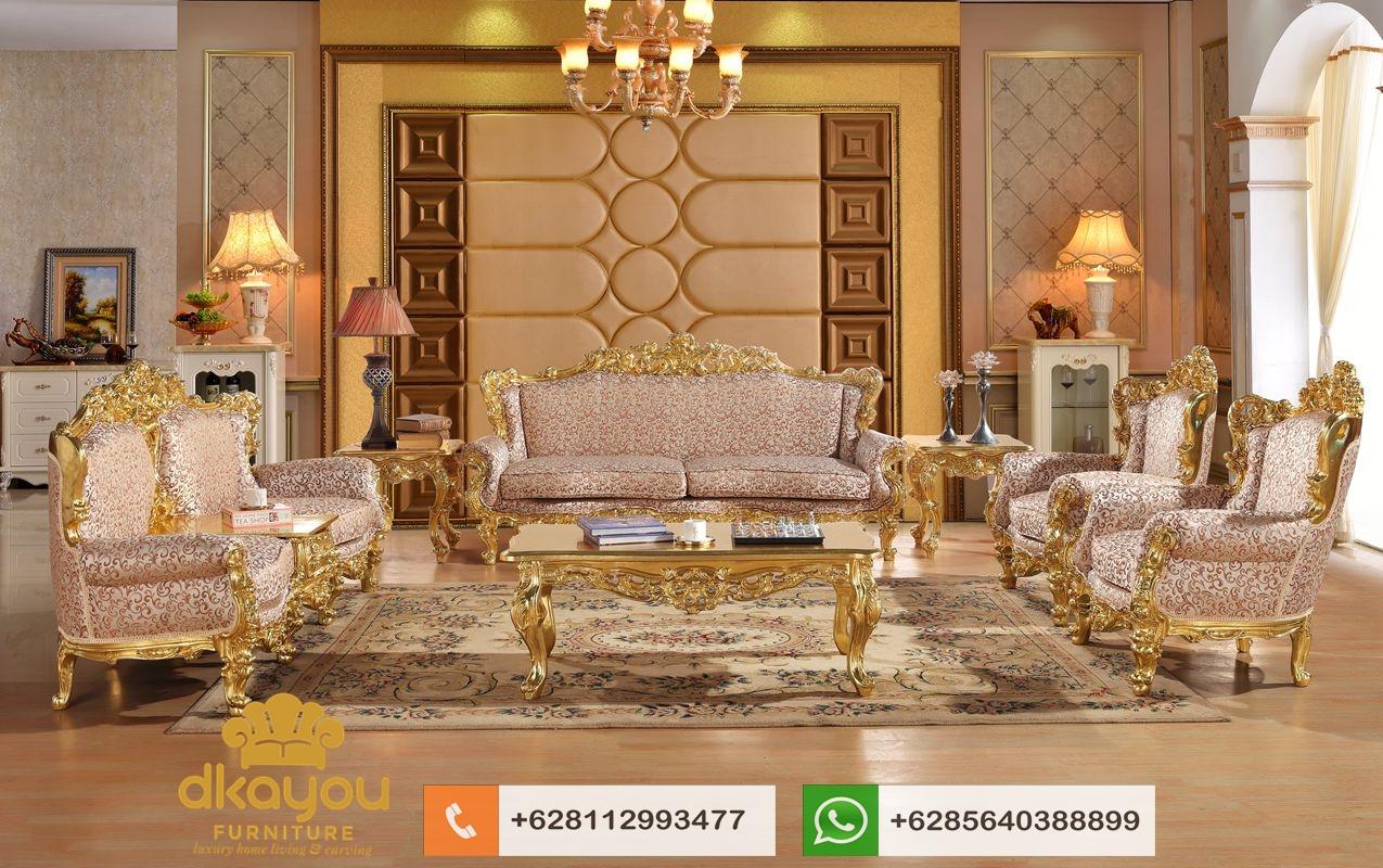 set sofa terbaru model ukir klasik gold