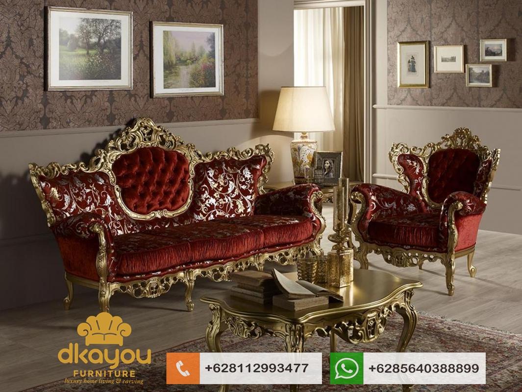 kursi sofa klasik mewah terbaru