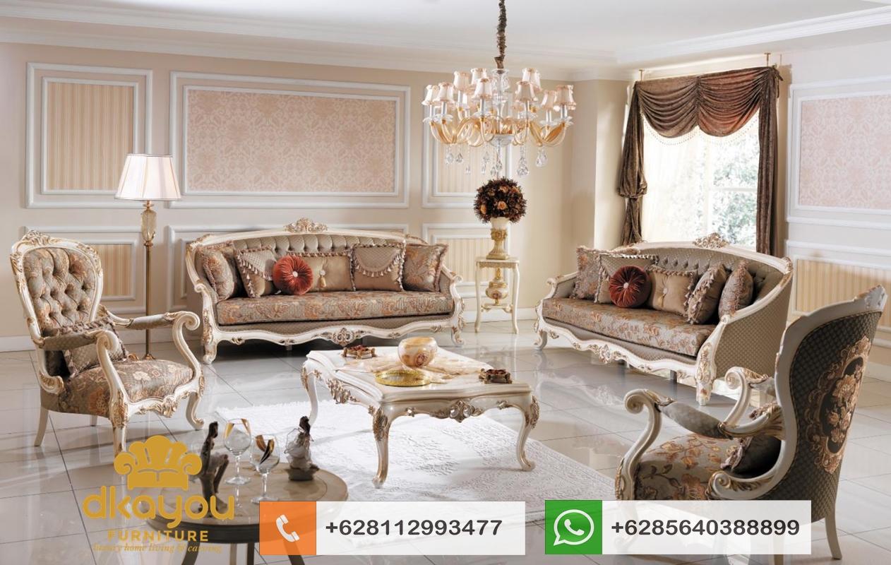harga sofa tamu mewah klasik terbaru