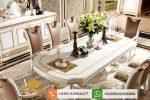 Set Meja Makan Mewah Klasik Duco Italian Furniture SMM240
