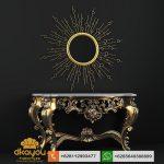 meja konsul mewah baroque gold