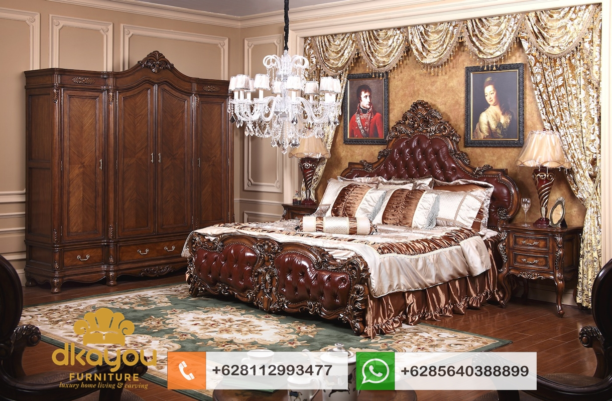 model tempat tidur pengantin mewah jati
