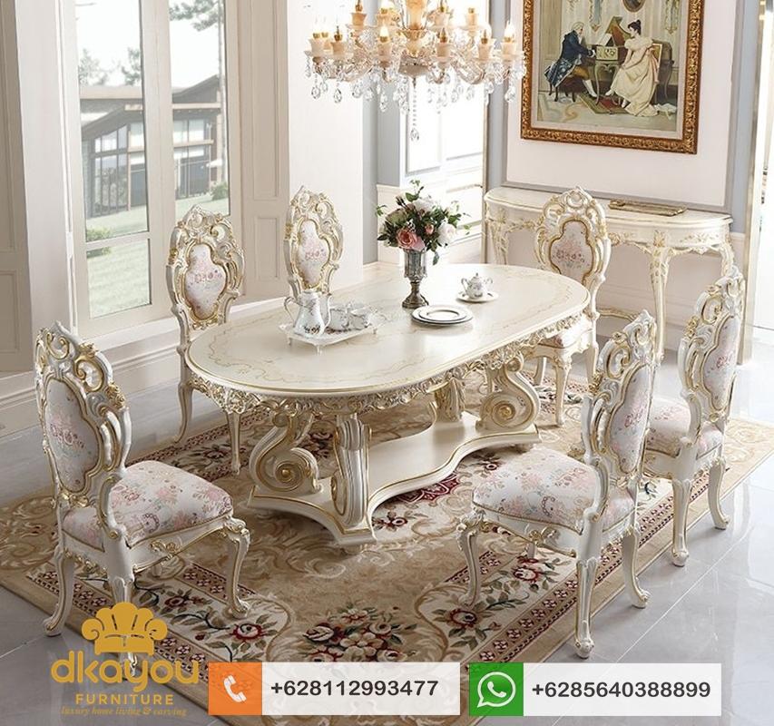 set meja makan ukir mewah minerva
