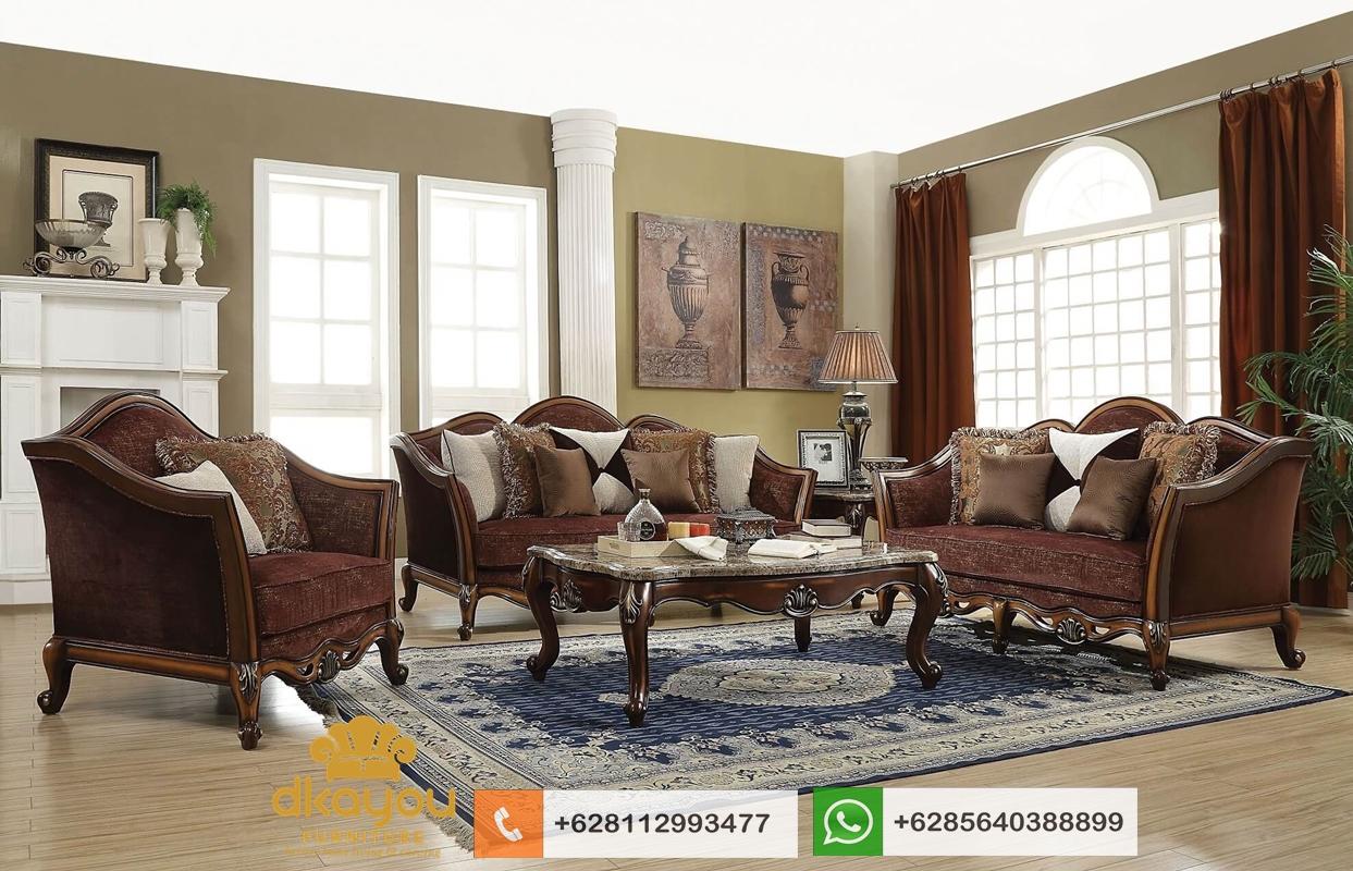 set sofa mewah terbaru