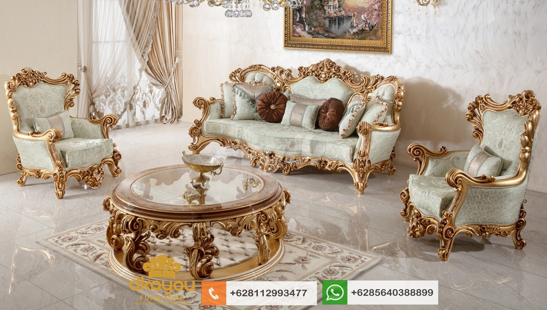 model sofa mewah klasik terbaru