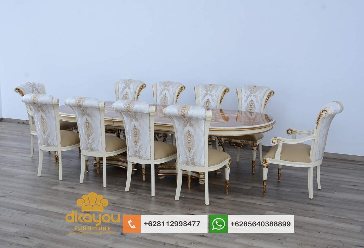 kursi meja makan klasik mewah