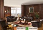 sofa tamu kulit untuk ruang direktur