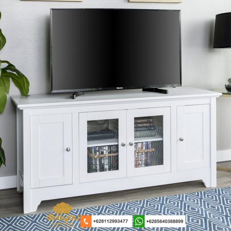 meja tv minimalis putih