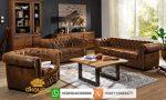 sofa chesterfield kulit