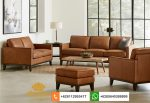sofa kulit asli model terbaru