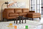 sofa l kulit asli