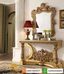 meja konsul klasik mewah gold