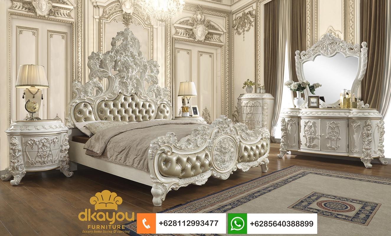 model tempat tidur mewah klasik romawi