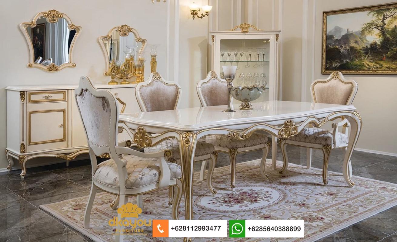 mebel meja makan klasik modern