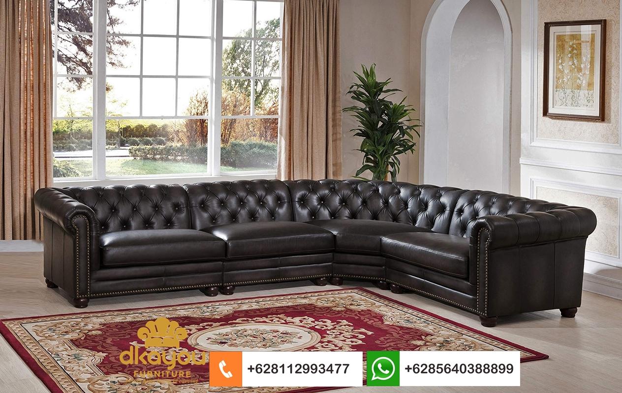 sofa kulit L terbaru