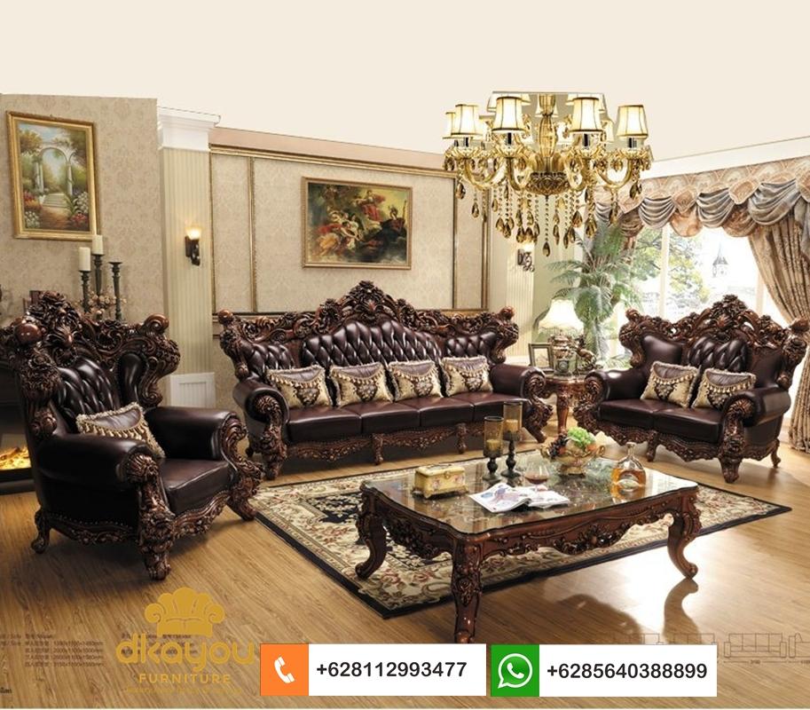 sofa mewah kulit asli